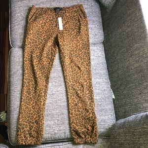 Sanctuary X Anthropologie Leopard Joggers Small